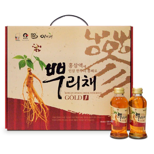 KOREAN GINSENG DRINK WITH ROOT 120ml×12ea